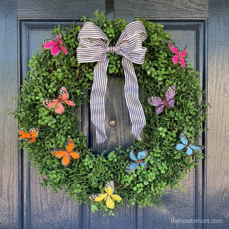 Easy Butterfly Summer Wreath