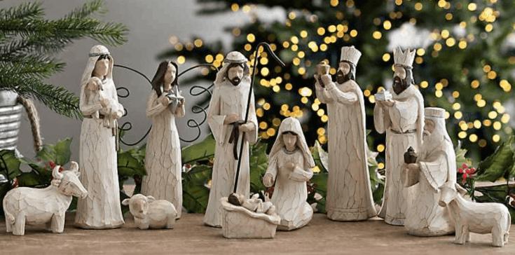 Cream Nativity Set - 11 pc