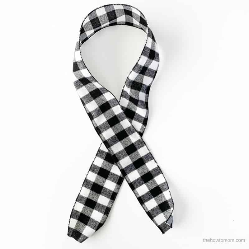 buffalo check ribbon for wreath bow