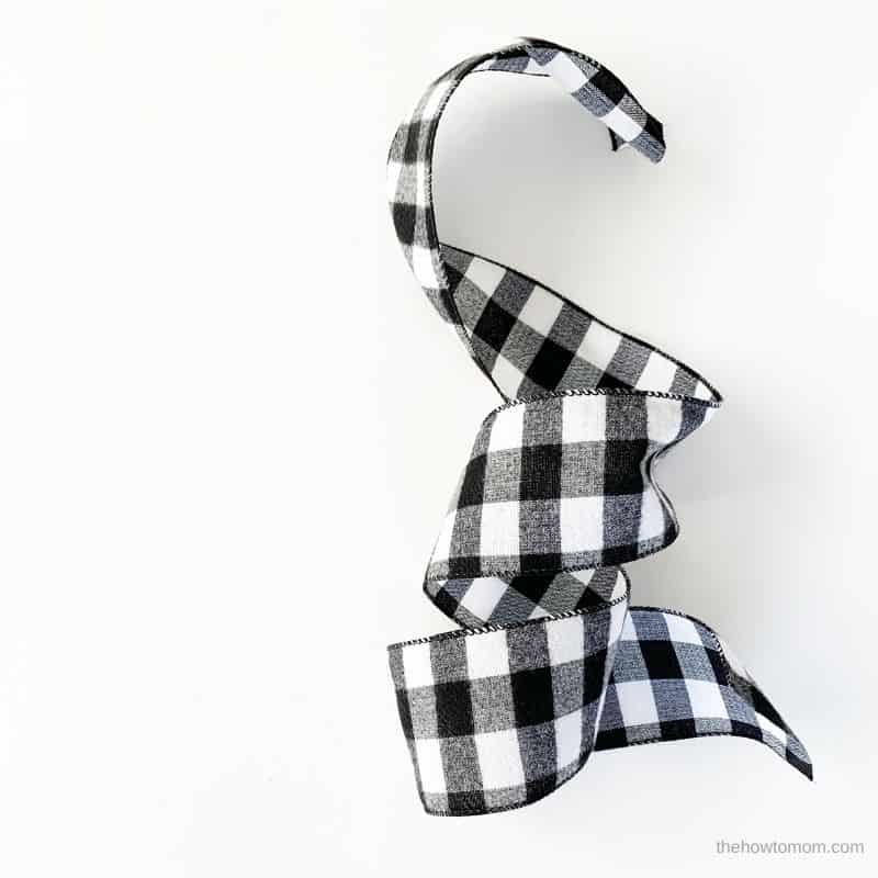 black and white buffalo check ribbon