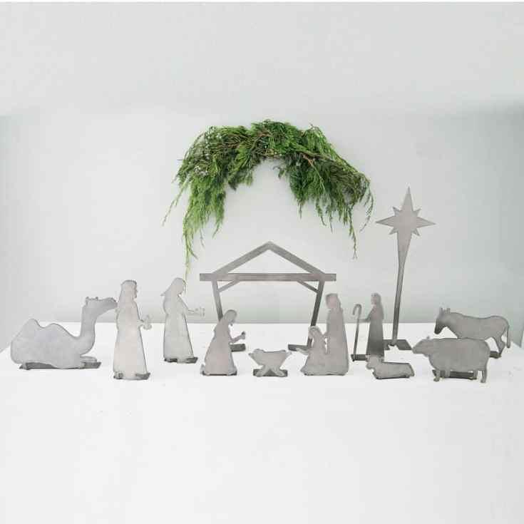 Metal Nativity Set - 12 pc