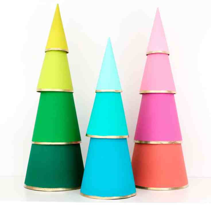 DIY Modern Tiered Ombre Christmas Trees