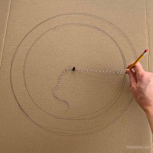 How to Make a Wreath Frame – DIY Cardboard Wreath Base