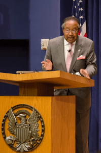 Clarence Benjamin Jones, the speechwriter for Martin Luther King Jr.'s 'I Have a Dream' speech, visited Georgetown on