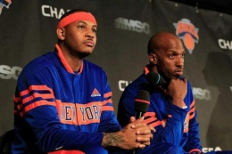 Initially an afterthought of the Carmelo Anthony trade, point guard Chauncey Billups (right) has been a force for the Knicks early on.