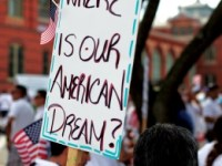 About 115 Georgetown students marched to the Capitol Sunday, Jan. 19 in support of immigration reform. The March for America drew tens of thousands of immigrants and activists.
