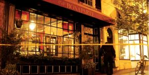 Two robbers armed with handguns allegedly entered Café Bonaparte on Monday night. No shots were fired, but an employee was injured.