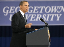 MEAGAN KELLY/THE HOYA President Obama spoke to Cabinet secretaries as well as university administrators, faculty and students.