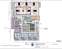 Courtesy Georgetown Sports Information This rendering shows one of the floors of the planned 130,000 square foot IAC.