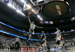 WEB LESLIE/THE HOYA Freshman guard Jabril Trawick had five points and two steals in the Hoyas' win over Villanova Saturday.