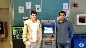 BRADEN MCDONALD/THE HOYA GUASFCU's Chief Information Officer, Christopher Griffin, left, and Chief Executive Officer, Nikhil Lakhanpal, were instrumental to the credit union's efforts to install a new ATM in Walsh Building.