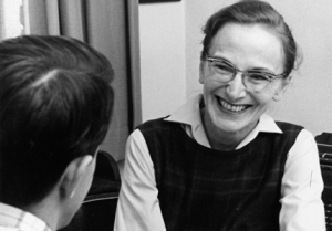 COURTESY GEORGETOWN UNIVERSITY ARCHIVES Professor Valerie Earle was the first president of the faculty senate and an advocate for women during a period of change at Georgetown.