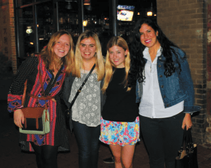 COURTESY KENDALL CIESEMIER Helen Brosnan (SFS '16), Kendall Ciesemier ( COL '15), Alana Snyder (COL '16) and Ava Arroyo (SFS '16) have planned a conference set to inspire.