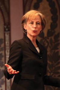 CHARLIE LOWE/THE HOYA KIE Director Maggie Little presented a series of six TED-style talks on bioethics in Gaston Hall last week.