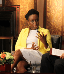 NATASHA THOMSON/THE HOYA Nigerian novelist Chimamanda Ngozi Adichie spoke in Gaston Hall on Friday.