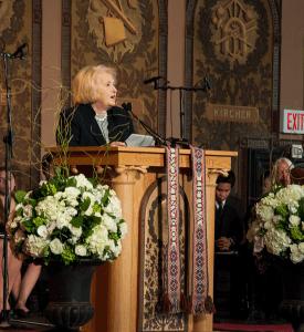 VALERIA BALZAR FOR THE HOYA GIWPS Executive Director Ambassador Melanne Verveer (FLL '66, GRD '69) memorialized Lancaster for her tenacity.
