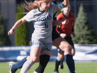 FILE PHOTO: JULIA HENNRIKUS/THE HOYA Senior midfielder Daphne Corboz has seven goals to go along with 16 assists in 17 starts this season.