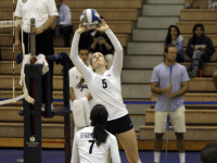 FILE PHOTO: ERICA WONG/THE HOYA Freshman setter Casey Speer recorded 39 assists against St. John's on Friday in a 3-1 loss. She is second on the team in assists with 402, behind just sophomore setter Caitlin Brauneis.