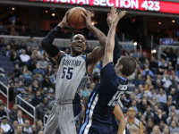 FILE PHOTO: CHRIS BIEN/THE HOYA Senior guard and co-captain Jabril Trawick is one of the veteran leaders for a Hoyas team eager to return to the NCAA tournament in March, 2015.