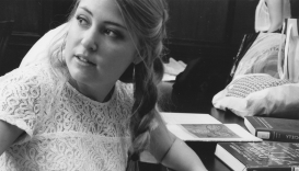 Behind the scenes with Alana. (Emily Welch/The Hoya)