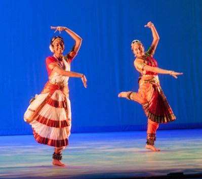 MICHELLE XU/THE HOYA The Invocation Dance features Alisha Daga (MSB '15), Nikita Jejurikar (NHS '15) and Chinmayee Venkatraman (NHS '15).