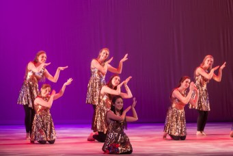 MICHELLE XU/THE HOYA Students perform Salsa Masala.