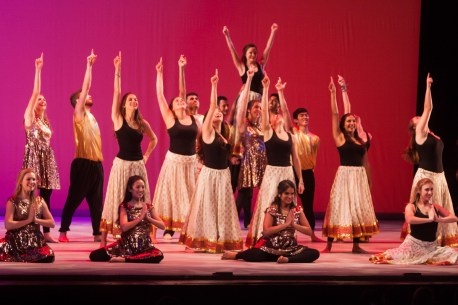 MICHELLE XU/THE HOYA Students perform Salsa Masala, a Latin and South Asian fusion dance.