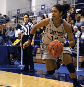 JULIA HENNRIKUS/THE HOYA Sophomore forward Jade Martin played in all 32 games for Georgetown last season. In her freshman season, she averaged 3.2 points a game and 1.5 rebounds a game.