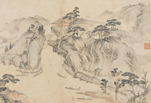 "COURTESY ARTHUR M. SACKLER GALLERY ""Boats Grappling Upstream"" shows rural Chinese culture during the Qing dynasty."