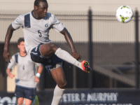 FILE PHOTO: JULIA HENNRIKUS/THE HOYA Sophomore defender Joshua Yaro, the Big East Defensive Player of the Year, helped Georgetown record 10 shutouts this season.