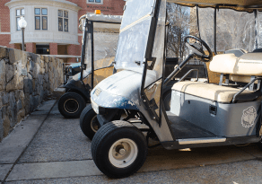 DAN GANNON/THE HOYA Students held a fundraiser to raise money for the purchase of a $10,000 golf cart for infirm Dog Tag Bakery founder Fr. Curry.