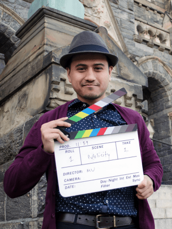 """DAN GANNON/THE HOYA Mesbah Uddin (SFS '15) has been pursuing a new filmmaking project titled """"11:59."""""""