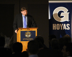 CLAIRE SOISSON/THE HOYA Head Coach Pete Wilk is entering is 16th season at the helm of the varsity baseball program at Georgetown.