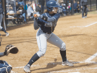 JULIA HENNRIKUS/THE HOYA Sophomore third baseman Alessandra Gargicevich-Almeida scored one of Georgetown's three runs in its 5-3 loss to Drexel on Wednesday.