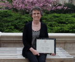 JULIA ANASTOS/THE HOYA Janette A. Radosh has worked as a records manager in the Office of Admissions for 45 years.
