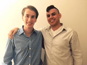 COURTESY GILLIS BAXTER Alumni Gillis Baxter and Evan Bloomberg launched their app, Vizo News, this week.