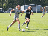 FILE PHOTO: NATE MOULTON/THE HOYA Junior forward Grace Damaska scored two goals in Georgetown's 4-3 win over James Madison. She will continue to lead an offense that has fared well in the early portion of this year's schedule.