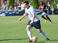 NATE MOULTON/THE HOYA Junior forward Alex Muyl had a goal and an assist in No. 25 Georgetown's 2-1 win over No. 11 Maryland Wednesday. The Hoyas have beaten the Terrapins only twice in the team's 31-game all-time series.