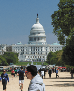 FILE PHOTO: ALEXANDER BROWN/THE HOYA Bo Hammond and Lisa Maurer started Tours for Humanity, which hits major tourist sites like the Capitol, to give back to society.