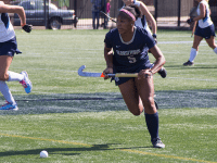 FILE PHOTO: LAUREN SEIBEL FOR THE HOYA Junior forward Aliyah Graves-Brown has totalled five goals and one assist on the seasaon. She leads the Hoyas in points with a total of 11.