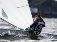 COURTESY GEORGETOWN SPORTS INFORMATION Freshman Haddon Hughes is the first Hoya to win the Intercollegiate Sailing Association Women's Singlehanded National Championship individual title.