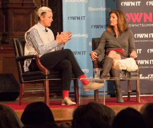 """NAAZ MODAN/THE HOYA Co-anchor of """"CBS This Morning"""" Norah O'Donnell, right, interviewed former U.S. national women's soccer player Abby Wambach at Georgetown's OWN IT Summit on Saturday."""