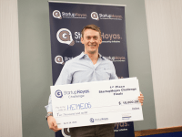 COURTESY GEORGETOWN UNIVERSITY  Doug Grant (GRD '16) won the $10,000 first prize for the Georgetown Entrepreneurship Initiative's Entrepalooza competition in May for Hemeos, now in danger of falling to federal regulations.