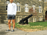 COURTESY ETHAN ROSEN Francesco Ambrosio (MSB '19) created a clothing company with two other friends to sell cheap and comfortable clothing to college students.