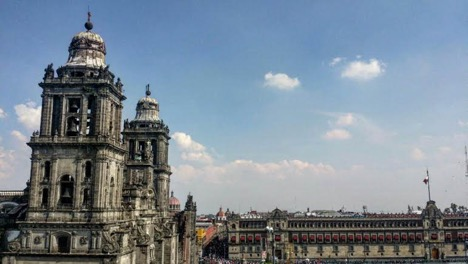 ZOCALO PLAZA, NEAR TEMPLO MAYOR AND THE NATIONAL CATHEDRAL | COURTESY OF FRIDA SANTIAGO