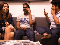 ELLA WAN FOR THE HOYA Kamar Mack (COL '19) and Jessica Andino (COL '18) won yesterday's Georgetown University Student Association executive election by a narrow margin of 34 votes over Garet Williams (COL '18) and Habon Ali (COL '18).