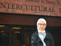 JESUS RODRIGUEZ/THE HOYA Noor Shakfeh's (GRD '17) father came to America from Syria to practice medicine when he was 26. Today, Shakfeh works to find disease prevention solutions in Syria.