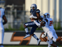 COURTESY GUHOYAS Sophomore wide receiver Michael Dereus had a team-high 114 receiving yards on six catches in Georgetown's 16-10 victory over Marist on Saturday.