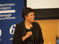 SPENCER COOK/THE HOYA Mayor Muriel Bowser (D) announced four locations for Amazon's new headquarters as part of the District's bid to woo the company.