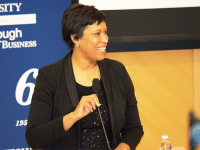 FILE PHOTO: SPENCER COOK/THE HOYA The office of Washington, D.C. Mayor Muriel Bowser (D) invested $138.5 million in affordable housing programs in the 2017 fiscal year. The initiatives, funded by the Housing Production Trust Fund, intends to ensure that the city's residents experiencing homelessness have safe and affordable places to live in all eight wards.
